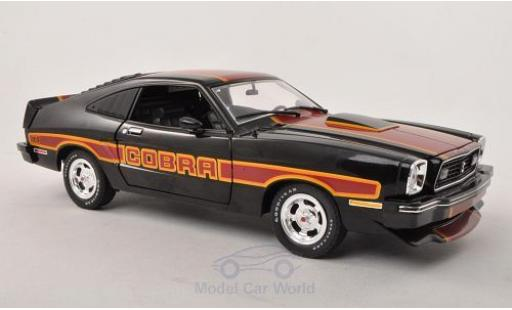 Ford Mustang 1/18 Greenlight II Cobra II noire/rouge 1978 mit Dekor miniature