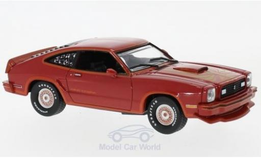 Ford Mustang 1/43 Greenlight II King Cobra rosso/gold 1978 miniatura
