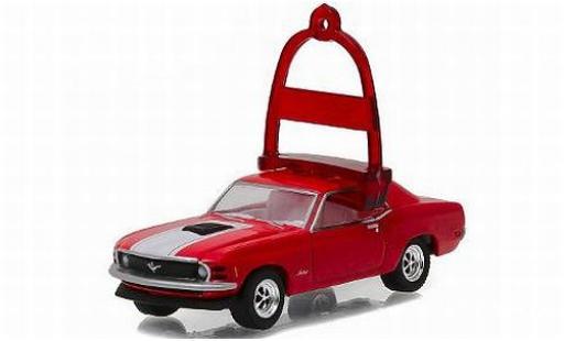Ford Mustang 1/64 Greenlight metallise rouge/Dekor 1970 vacances Ornaments Series 1 sans Vitrine miniature