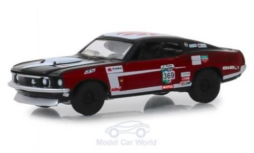 Ford Mustang 1/64 Greenlight noire/rouge No.369 La Carrera Panamericana 1969 Mach 1 miniature
