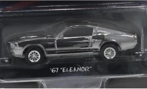 Ford Mustang 1/64 Greenlight Shelby GT500 chrom/noire Gone in 60 Seconds 1967 Eleanor miniature