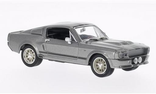 Ford Mustang 1/43 Greenlight Shelby GT500 Eleanor metallise grise/noire 1967 Gone in 60 Seconds miniature
