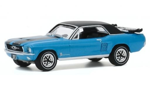 Ford Mustang 1/64 Greenlight Ski Country Special metallise bleue/matt-noire 1967 miniature
