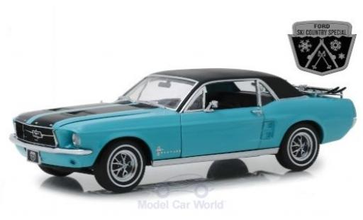 Ford Mustang 1/18 Greenlight Ski Country Special turquoise/black 1967 diecast model cars