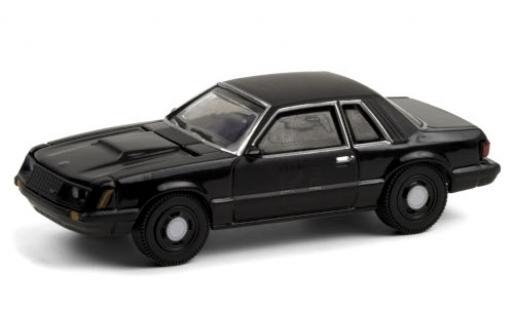 Ford Mustang 1/64 Greenlight SSP black/matt-black 1982 diecast model cars