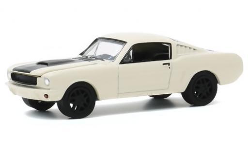 Ford Mustang 1/64 Greenlight blanche/matt-noire 1966 Testfahrzeug miniature
