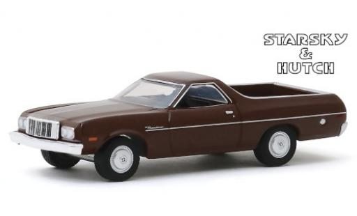 Ford Ranchero 1/64 Greenlight marron Starsky & Hutch 1974 miniature