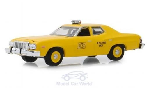 Ford Torino 1/64 Greenlight jaune NYC Taxi 1975 miniature