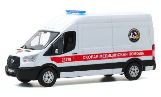 Ford Transit 1/43 Greenlight LWB HD Fast Medical Aid - St. Petersburg 2019 Ambulanzwagen miniature