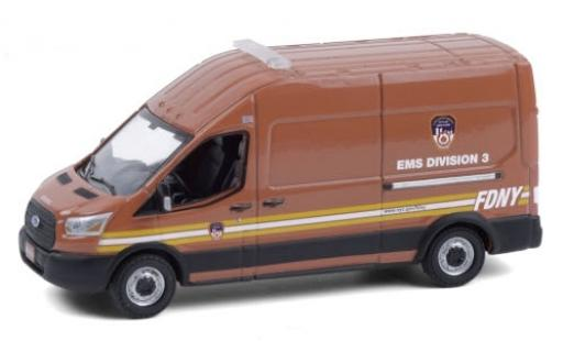 Ford Transit 1/64 Greenlight LWB High Roof F.D.N.Y. - EMS Division 3 2019 miniature