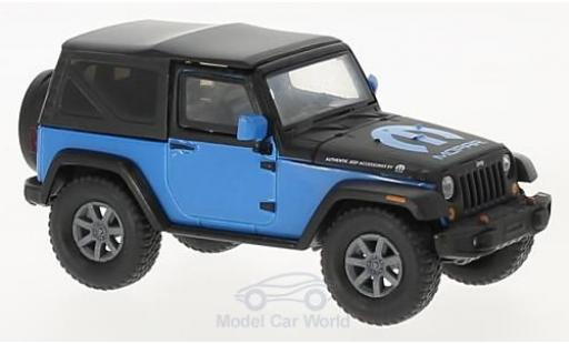 Jeep Wrangler 1/43 Greenlight bleue/noire MOPAR 2010 miniature