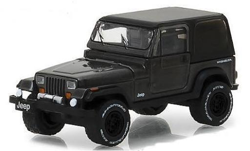 Jeep Wrangler 1/64 Greenlight metallise grise 1990 miniature