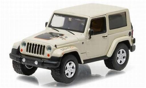 Jeep Wrangler 1/64 Greenlight Mojave blanche/Dekor 2012 All Terrain Series 4 sans Vitrine miniature