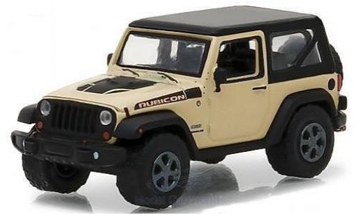 Jeep Wrangler 1/64 Greenlight Rubicon Recon beige/noire 2017 miniature