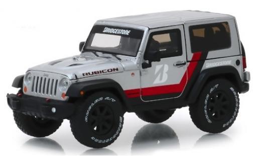 Jeep Wrangler 1/43 Greenlight Rubicon grise/Dekor Bridgestone 2014 miniature