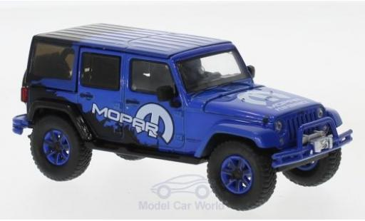 Jeep Wrangler 1/43 Greenlight Unlimited bleue 2012 Mopar Off Road Edition miniature