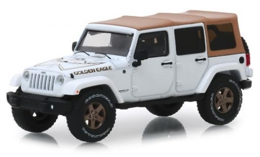 Jeep Wrangler 1/43 Greenlight Unlimited blanche/Dekor Golden Eagle 2018 miniature