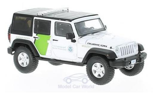 Jeep Wrangler 1/43 Greenlight Unlimited blanche/verte U.S. Customs and Border Prougeection 2015 miniature