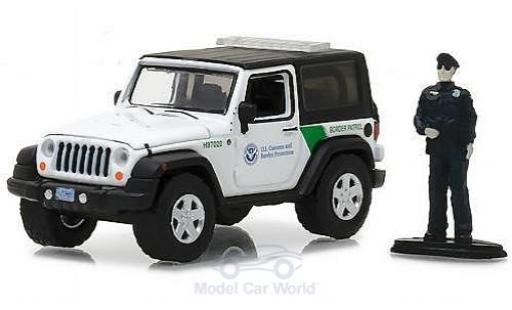 Jeep Wrangler 1/64 Greenlight US Customs & Border Prougeection mit Figur miniature