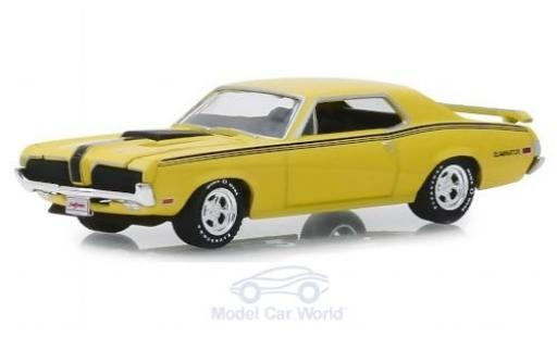 Mercury Cougar 1/64 Greenlight Eliminator 428 CJ jaune/Dekor 1970 miniature