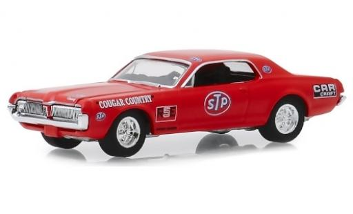 Mercury Cougar 1/64 Greenlight rouge/Dekor STP 1967 miniature