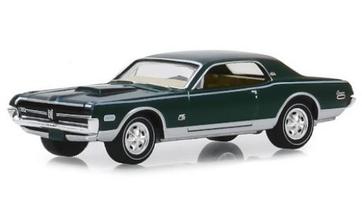 Mercury Cougar 1/64 Greenlight XR7 GT-E 428 Cobra Jet metallise verte/matt-noire 1968 miniature