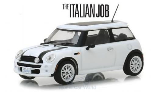 Mini Cooper 1/43 Greenlight weiss/schwarz RHD The Italian Job 2003 modellautos