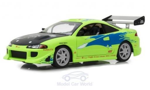 Mitsubishi Eclipse 1/18 Greenlight verte/Dekor Fast & Furious 1995