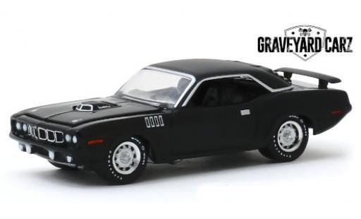 Plymouth Cuda 1/64 Greenlight 340 matt-noire Graveyard Carz 1971 Gone in 60 Seconds miniature
