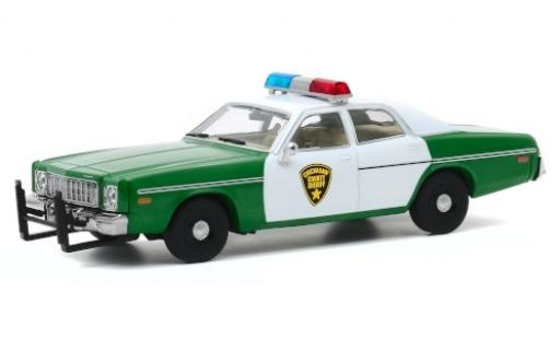 Plymouth Fury 1/64 Greenlight Chickasaw County Sheriff 1975 miniature