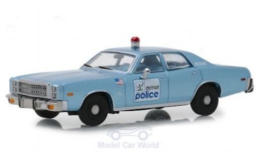 Plymouth Fury 1/43 Greenlight Detroit Police 1977 Beverly Hills Cop miniature