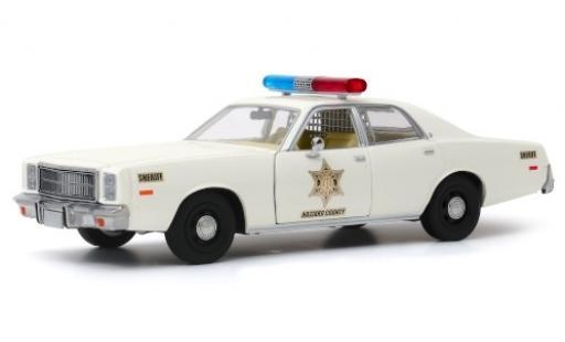 Plymouth Fury 1/43 Greenlight Hazzard County Sheriff 1977 miniature