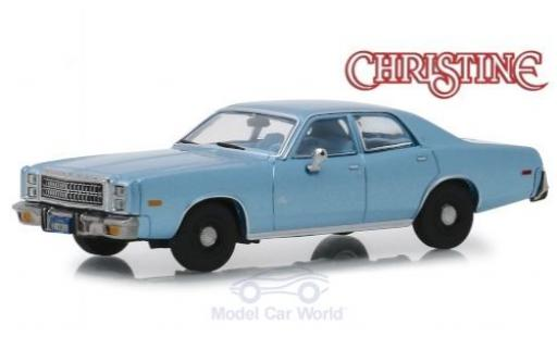 Plymouth Fury 1/43 Greenlight metallise bleue Christine 1977 miniature
