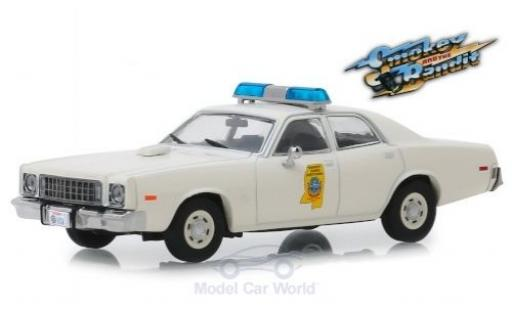 Plymouth Fury 1/43 Greenlight Mississippi Highway Patrol 1975 Smokey and the Bandit miniature
