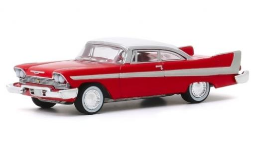 Plymouth Fury 1/64 Greenlight rouge/blanche 1958 Christine miniature