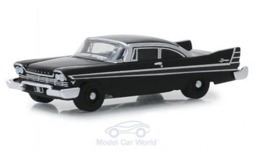Plymouth Fury 1/64 Greenlight noire 1957 miniature