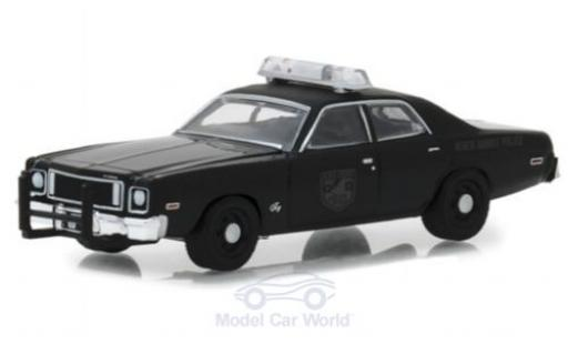 Plymouth Fury 1/64 Greenlight noire 1975 Black Bandit Police miniature