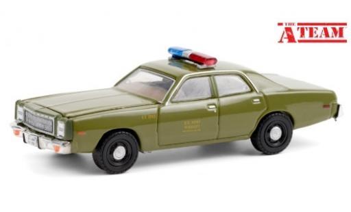 Plymouth Fury 1/64 Greenlight U.S. Army - Military Police 1977 diecast model cars