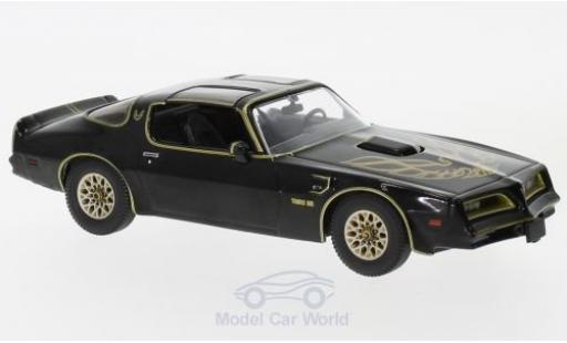 Pontiac Firebird 1/43 Greenlight Trans Am noire Smokey and the Bandit 1977 miniature