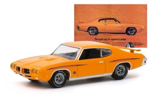 Pontiac GTO 1/64 Greenlight Judge orange/Dekor 1970 miniature