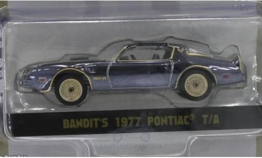 Pontiac Trans Am 1/64 Greenlight noire/chrom Smokey and the Bandit 1977 miniature