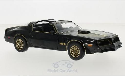 Pontiac Trans Am 1/24 Greenlight noire/gold Smokey and the Bandit I 1977 miniature