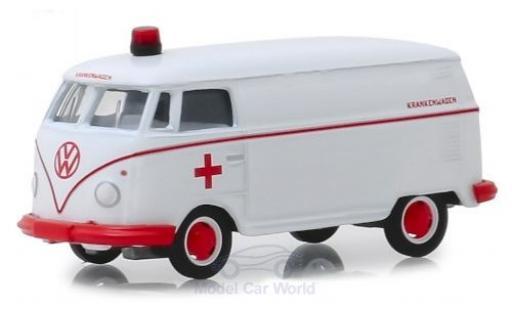 Volkswagen T1 1/64 Greenlight Kastenwagen blanche/rouge Krankenwagen 1964 miniature