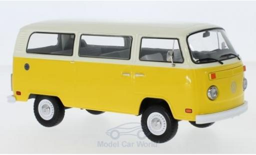 Volkswagen T2 B 1/64 Greenlight us yellow/beige Little Miss Sunshine 1978 diecast model cars