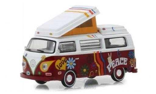 Volkswagen T2 1/64 Greenlight Westfalia Camper blanche/rouge 1973 miniature