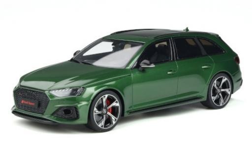 Audi RS4 1/18 GT Spirit Avant metallise green 2020 diecast model cars