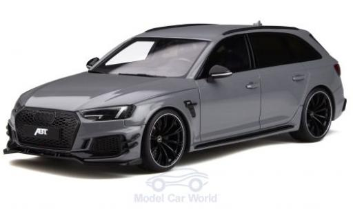 Audi RS4 1/18 GT Spirit -R Abt grigio 2019 modellino in miniatura