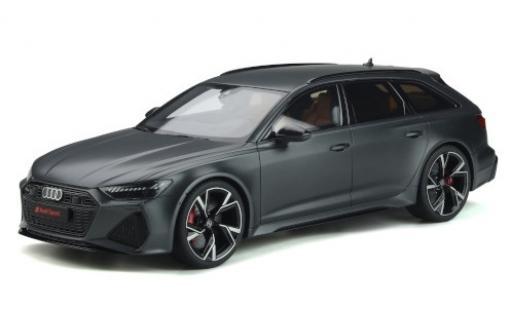 Audi RS6 1/18 GT Spirit Avant (C8) matt-grise 2020 miniature