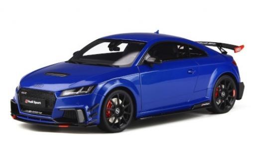 Audi TT 1/18 GT Spirit RS Performance Parts bleue miniature
