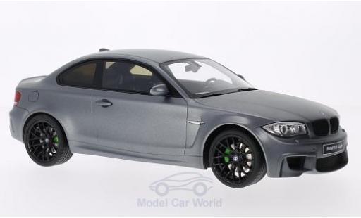 Bmw 1M 1/18 GT Spirit BMW (E82) matt-grey 2011 Türen und Hauben geschlossen diecast